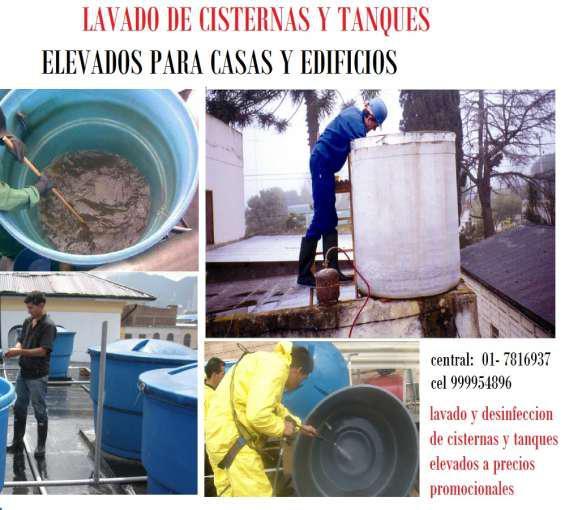 Lavado de tanque y cisternas de agua en Lima