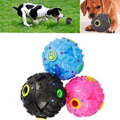 Juguete - pelota chillona, dispensador de comida para perros