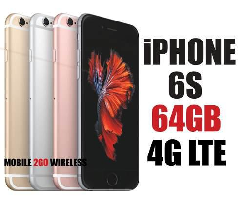 Apple iphone 6s 64gb 4g lte 12mp 2gb ram nuevo en caja libre