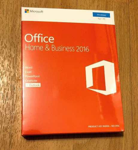 Microsoft office 2016 hogar y empresas retail físico