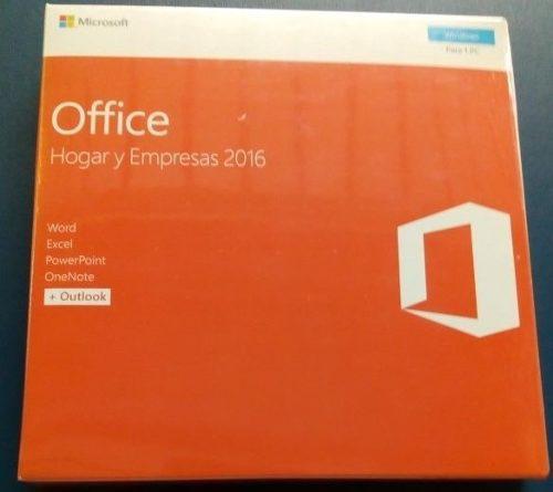 Office hogar y empresa 2016 box caja retail original