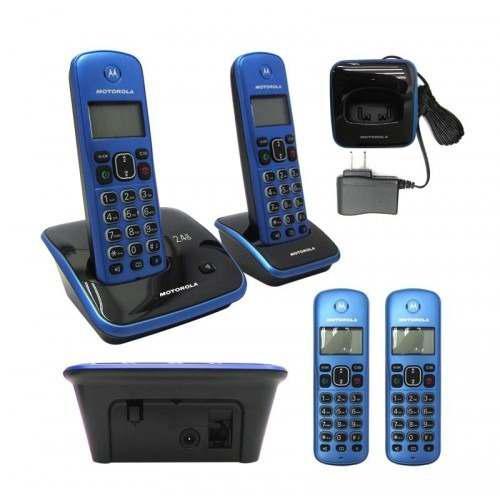 Teléfono digital inalámbrico motorola auri3520a-2 2.4 ghz