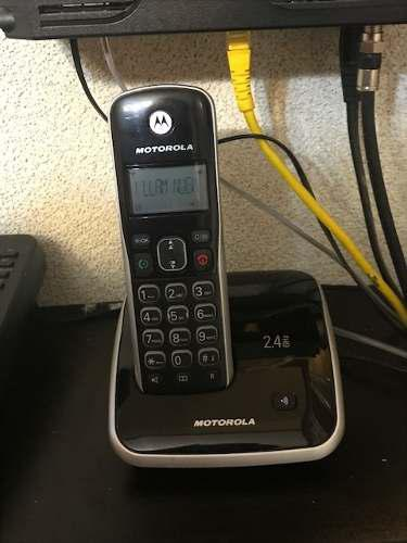 Teléfono motorola con base