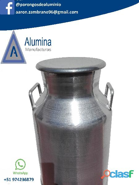 Porongos de aluminio para leche alumina en Arequipa 1