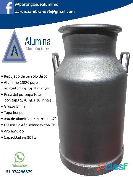 Porongos de aluminio para leche alumina en Arequipa 2