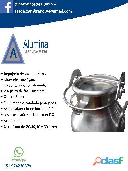 Porongos de aluminio para leche alumina en Arequipa 3