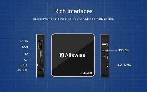Alfawise a8 android 8.1 tv box 2gb ram 16gb 4 nucleos 4k