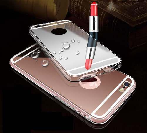 Case phone samsung j7 tipo espejo novedoso de lujo gold