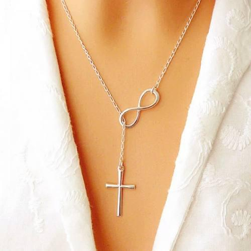386b606efd8a Collar cruz infinito para mujer plata 925
