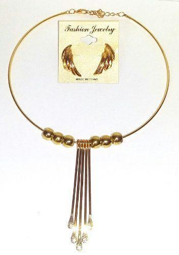 dee4c19694f9 Juego collar aretes joya bisuteria fina mujer regalo navidad