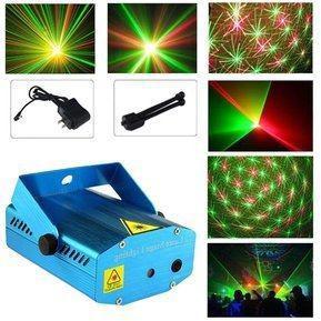 Proyector de luces láser audio ritmico luz discoteca y