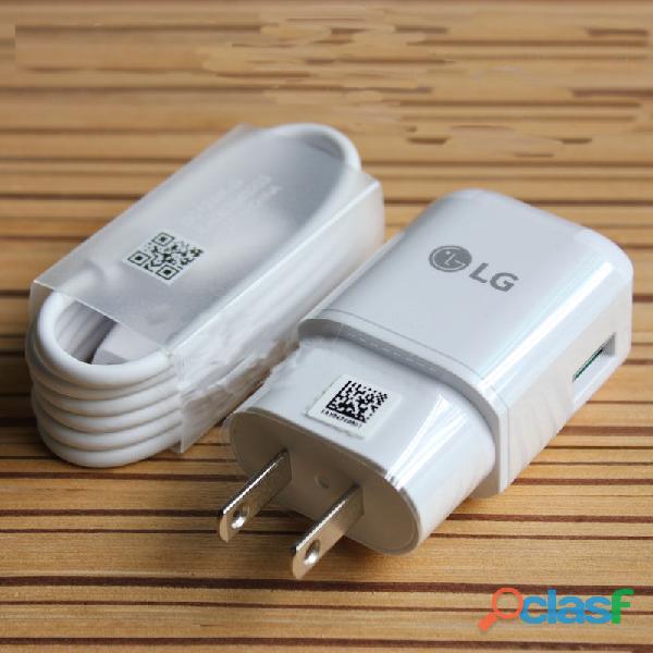 Cargador original lg y cable tipo c carga rapida g5 g6 g7