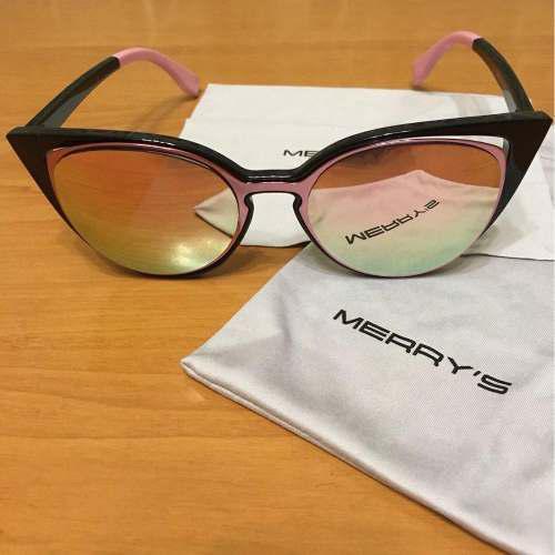 969bc8f645 Lentes de sol mujer cat eyes espejado polariz. merrys uv400