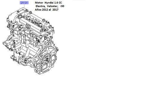 Motor hyundai 1.6 elantra, veloster, i30