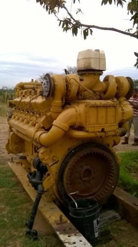Motor marino caterpillar d398 reconstruido estandar con caja