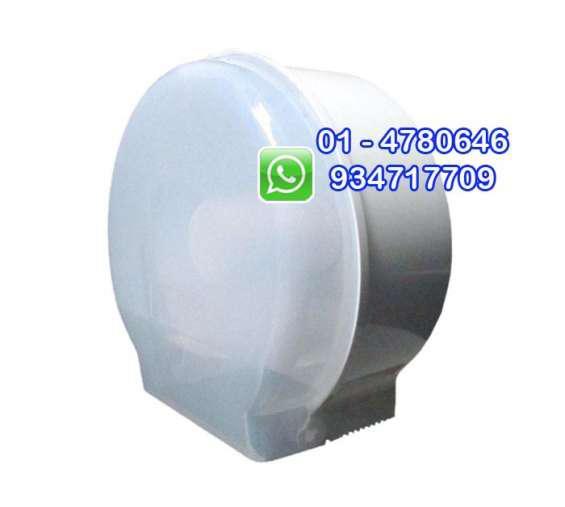 Dispensador de papel higiénico jumbo redondo blanco y negro