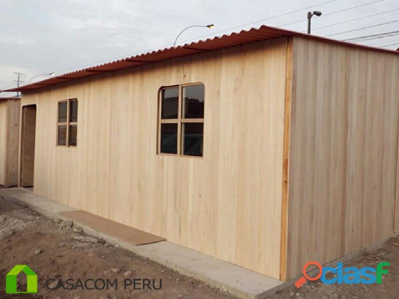 Habitaciones de madera prefabricados en villa el salvador