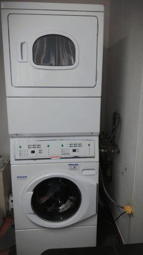 Ocasion venta de lavadora/secadora a gas apilada semiindustr
