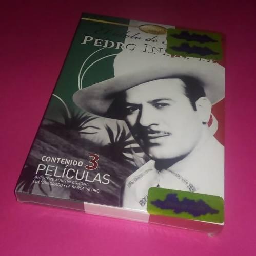 Pedro infante box 3 peliculas nuevo sellado en stock - emk