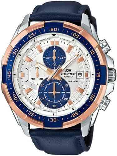 b19034dc6f4a Reloj casio edifice efr-539l-7c correa cuero - 100% nuevo en Lima ...