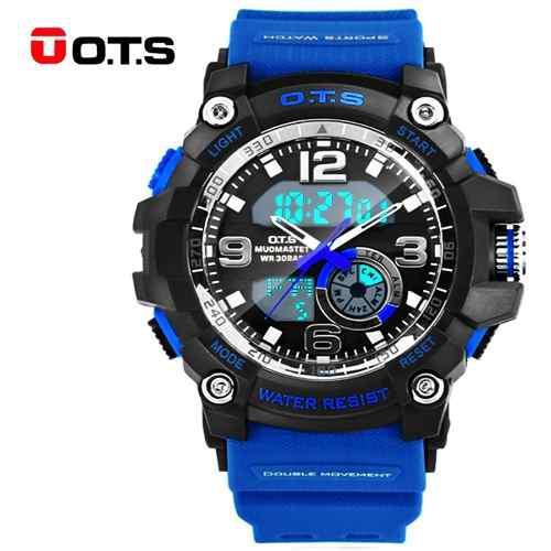 4e722392f4a9 Reloj deportivo azul casual hombre ots original acuático
