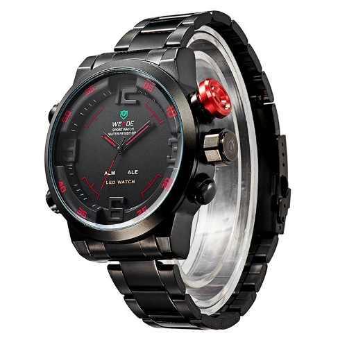 d4a4bd4250b1 Reloj deportivo de hombre analógico digital con luz led