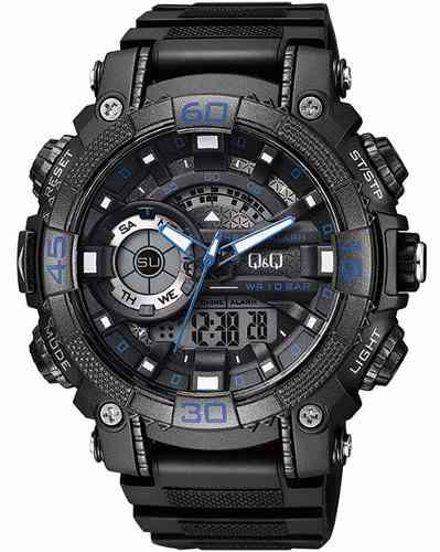 b276d186f5a5 Reloj deportivo hombre qq azul acuático gw87j