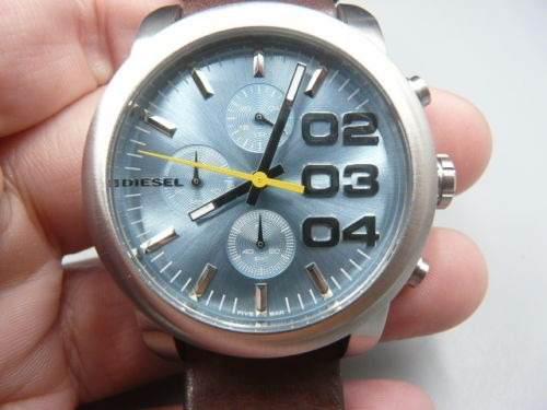 27c4c03a4f46 Reloj diesel dz5464 cronógrafo correa cuero nuevo original!