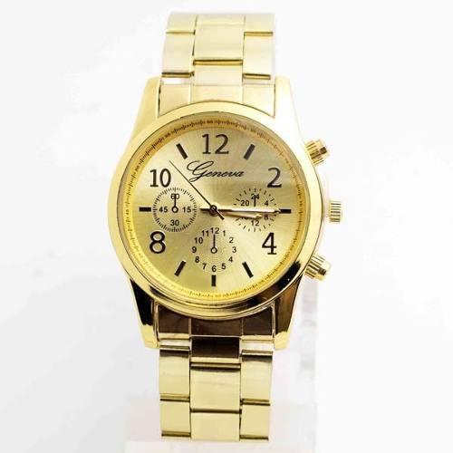5186321c1a2b Reloj mujer dorado geneva metal delivery a toda lima !