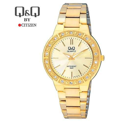 ca329ad54c3b Reloj mujer metal acero elegante casual dorado q q citizen en Lima ...