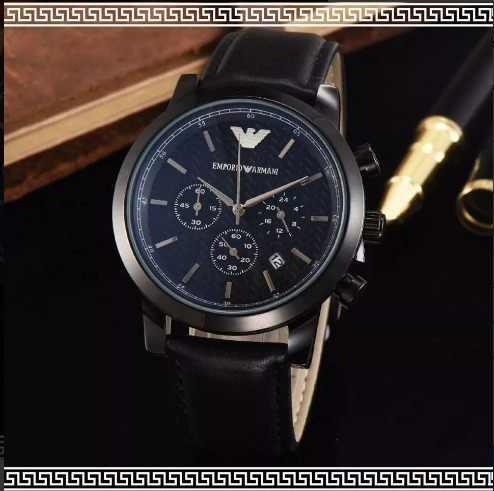 436bf3651f11 Reloj para hombre de cuero emporio armani ar2461