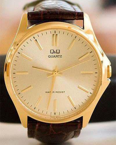 76fb2a89874a Reloj q amp q hombre casual elegante correa cuero original q q
