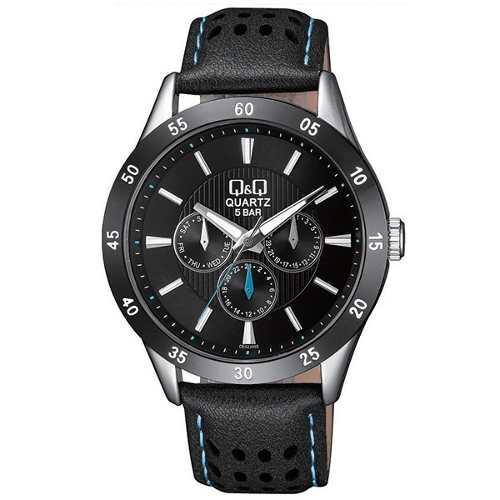 1bc82210dbcc Reloj q amp q hombre casual elegante cuero deportivo metal q q