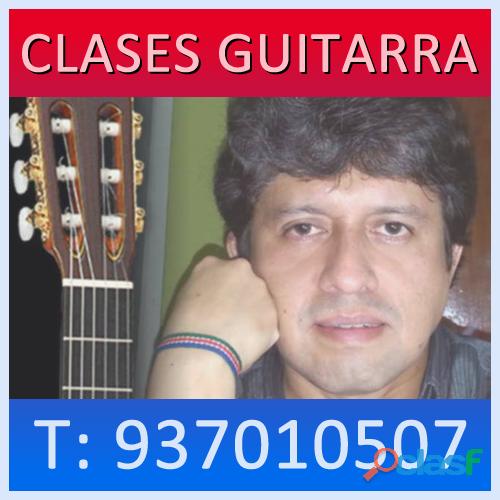 Profesor clases de guitarra a domicilio en lima surco curso musica