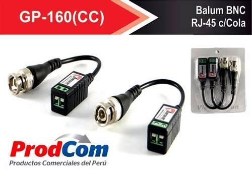 Kit accesorios cctv video balun fuente dc rj45 microfono y +
