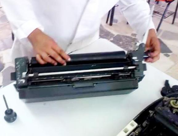 Mantenimiento y reparación de máquinas de escribir