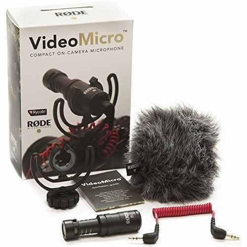 Rode videomicro compacto micrófono en cámara con rycote