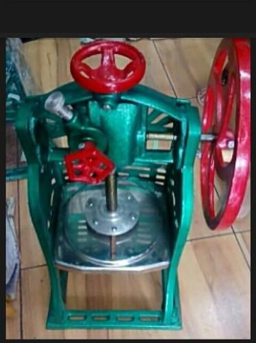 Maquina raspadillera manual hierro fundido base acero