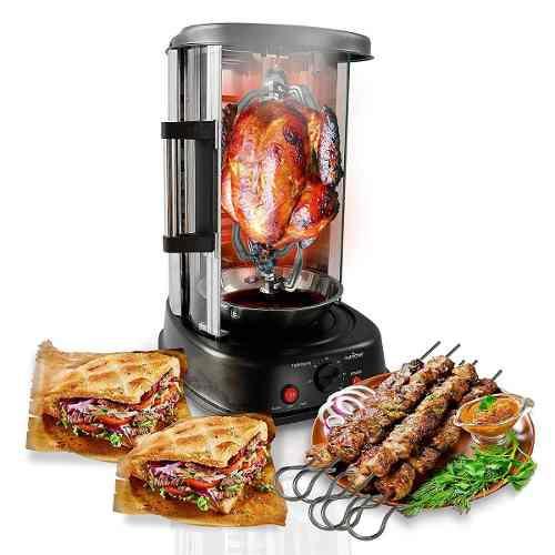Shawarma horno giratorio vertical kebob pollo rostizado