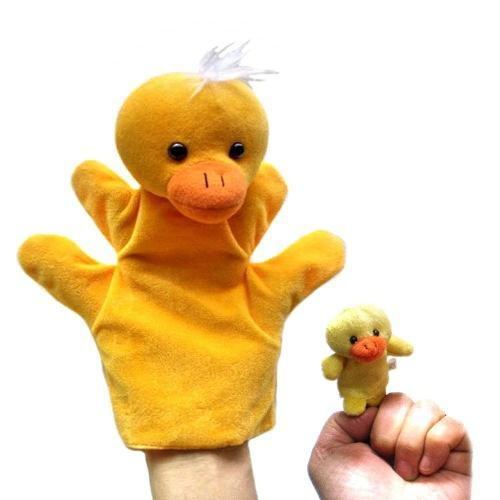 Titere patito de mano + dedo juguete bebe niño educativo