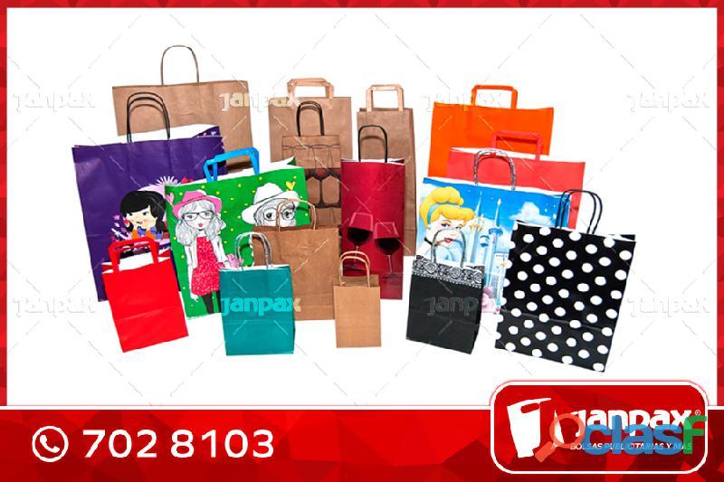 Bolsas de Cartón Impresas con Logo Propio JANPAX