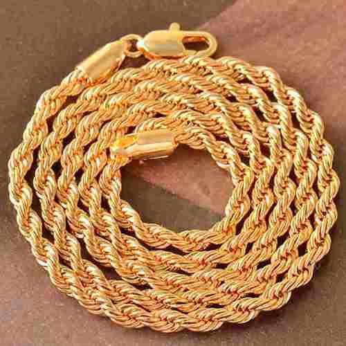 Cadena collar unisex oro laminado de 18k modelo twist z48