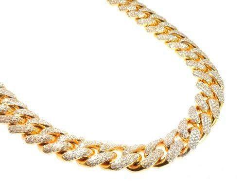 Cadena de oro amarillo 18k con diamantes