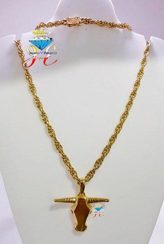 Cadena de oro amarillo 18k cordón cc110 hombre jespaña