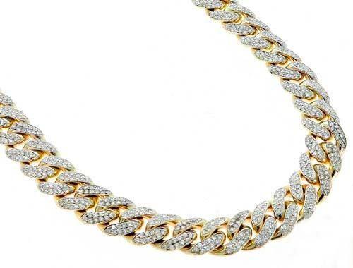 Cadena de oro blanco 18k con diamantes