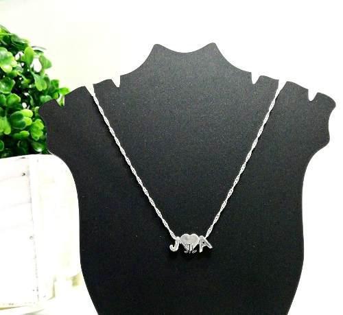 7faf33878d04 Collar dije inicial y corazon cadena plata 950 personalizado en Lima ...