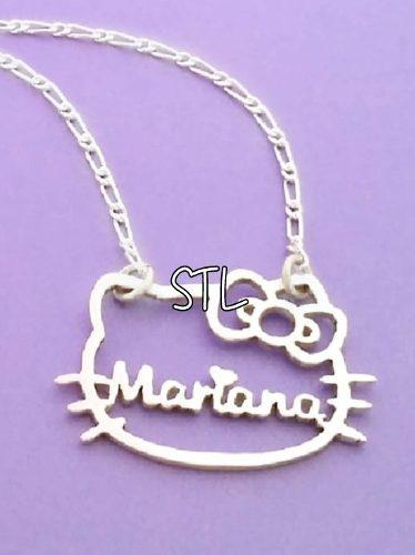 4e2852ceae8a Collar nombre dije hello kitty minnie plata 950 personalizad