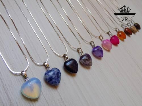 273ec33053c0 Collares de cuarzo piedras naturales corazón