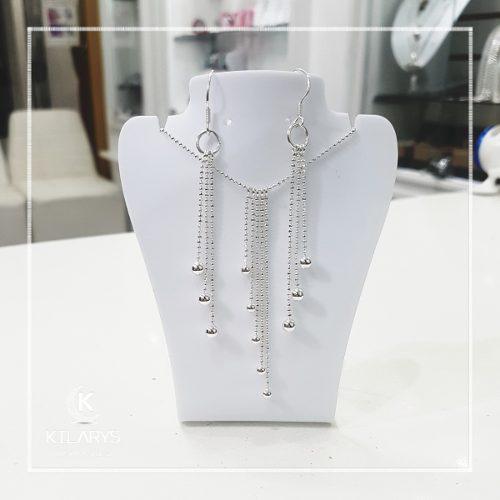 4f2ef50fc308 Juego set joyas collar arete gala mujer fiesta plata 925 en Lima ...