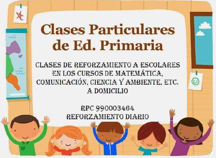 Clases particulares para alumnos de primaria
